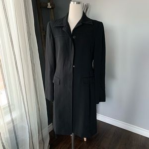 Louben Long Blazer Black Overcoat Office Business